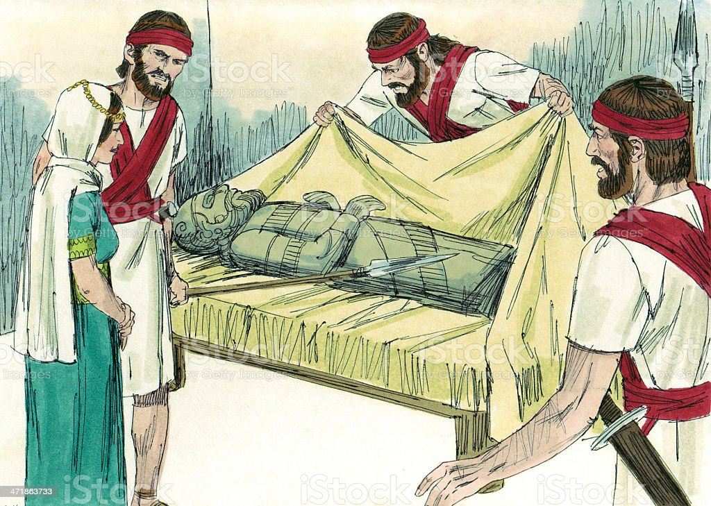 Saul's Men Realized David Escaped royalty-free stock photo