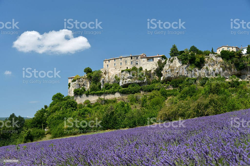 Sault in Provence, France stock photo