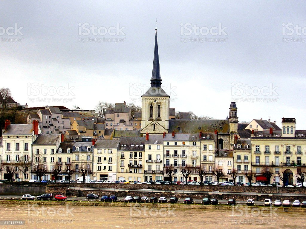 Saumur in the Loire, France stock photo
