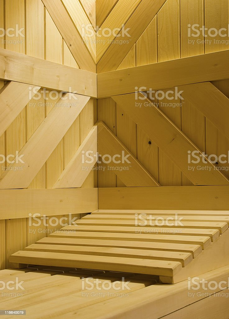 Sauna detail royalty-free stock photo