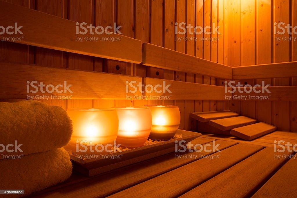 Sauna equipment stock photo