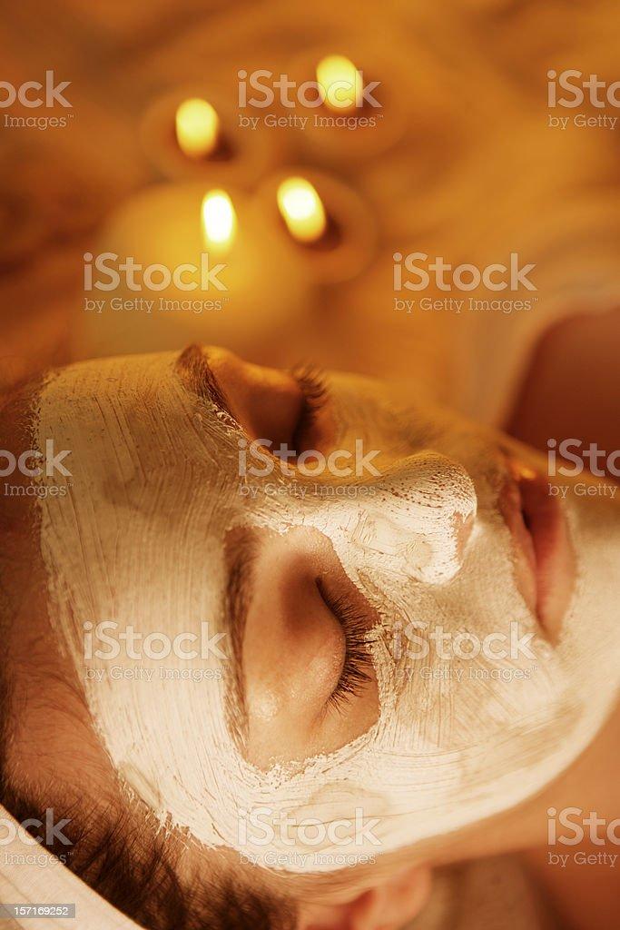 Sauna Face Mask royalty-free stock photo