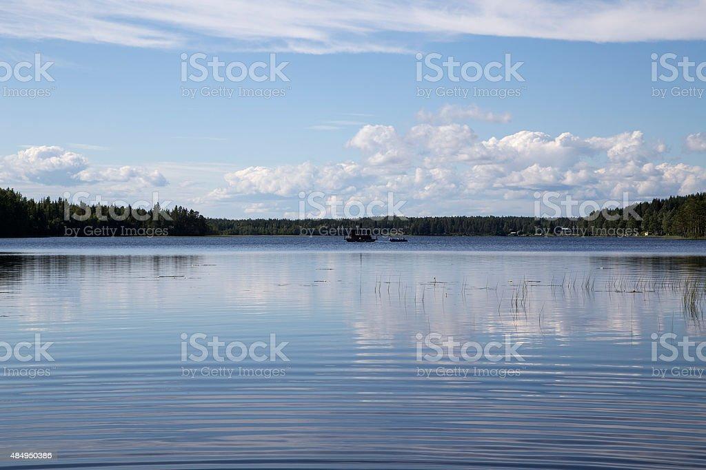 Sauna on the lake royalty-free stock photo