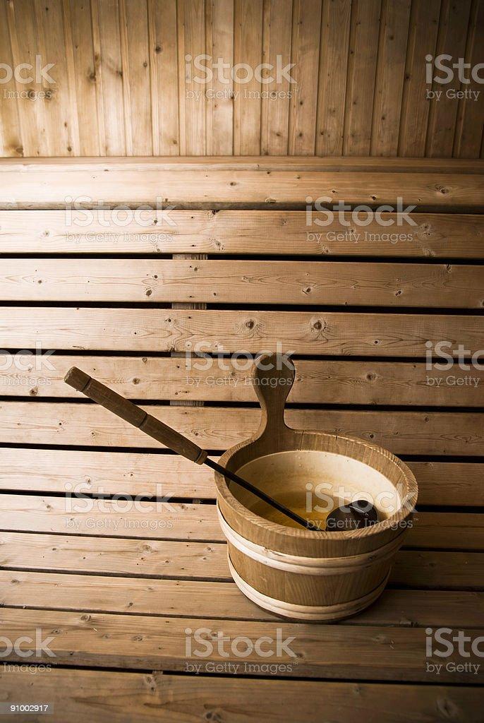 Sauna. royalty-free stock photo