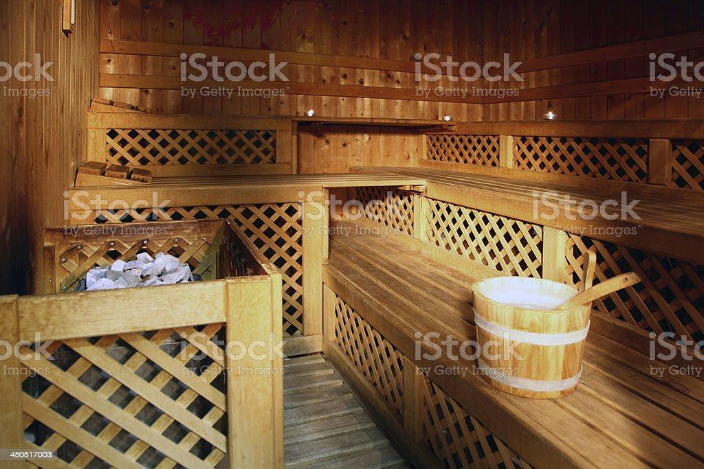 sauna room royalty-free stock photo