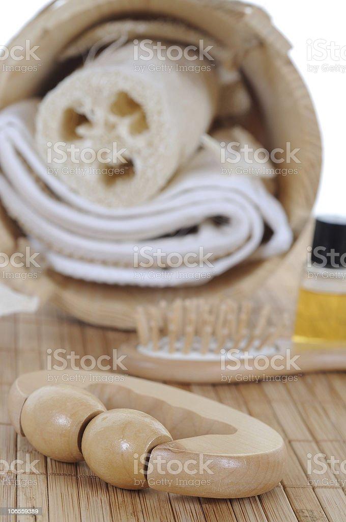 Sauna Set Spa stock photo