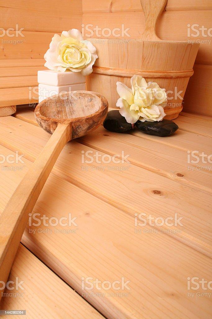 Sauna VII stock photo