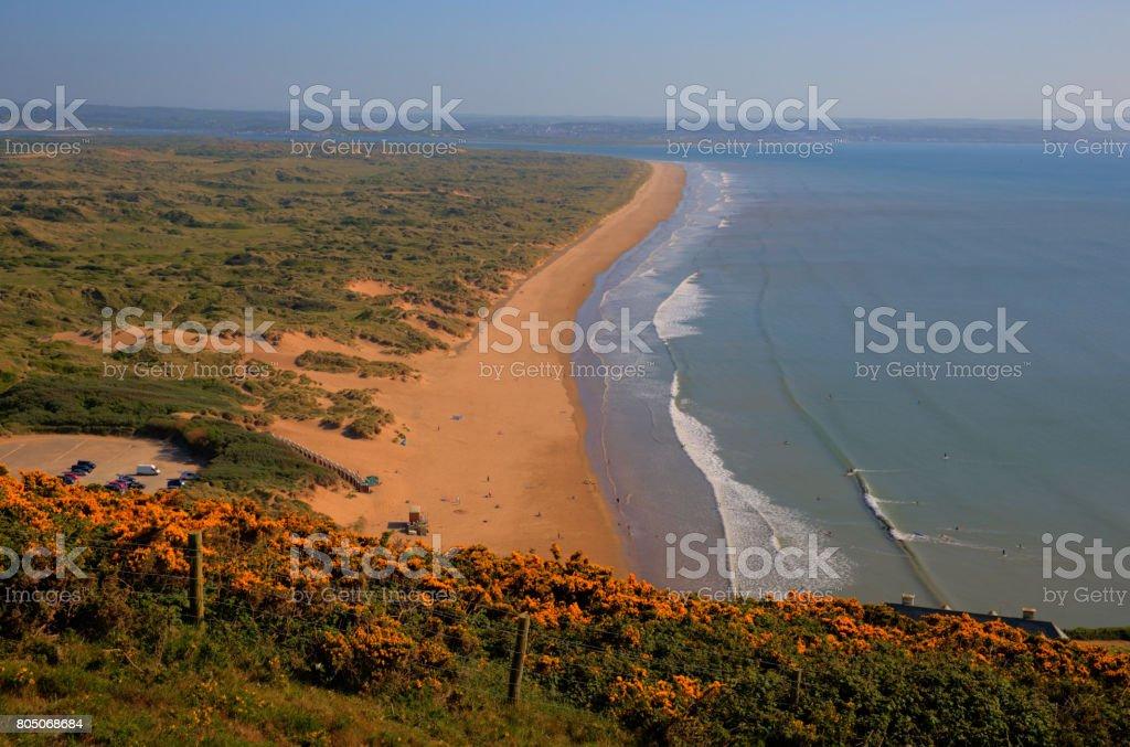 Saunton Sands North Devon coast near Croyde England UK stock photo