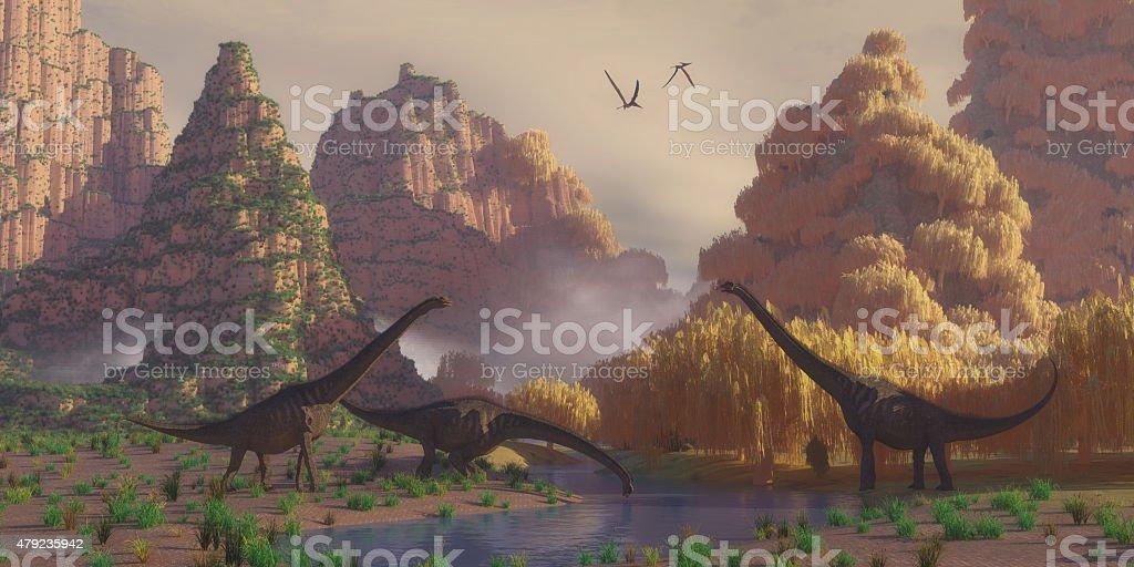 Sauroposeidon Dinosaurs stock photo