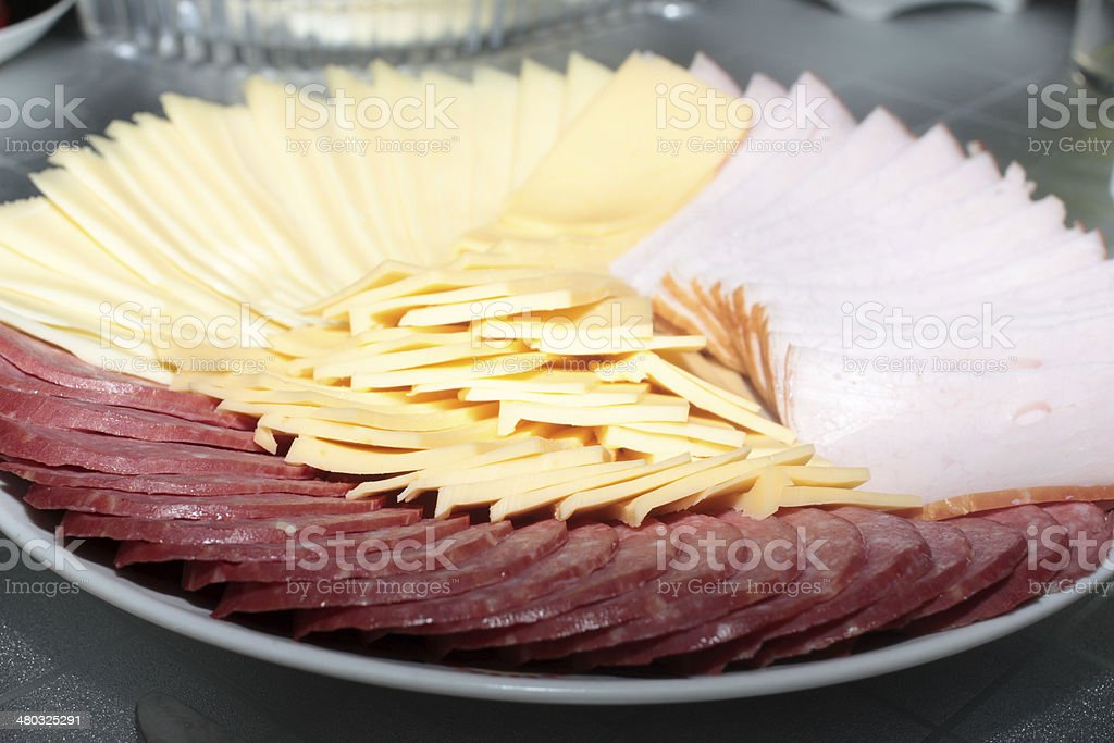 sausage and cheese royalty-free stock photo