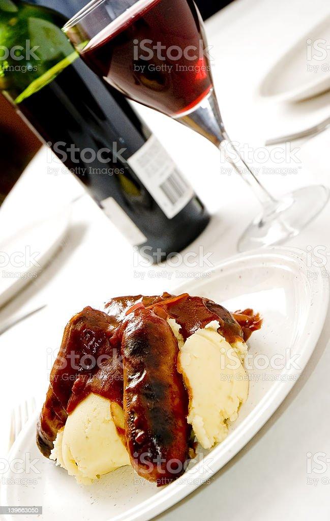 Sausage and mash 2 royalty-free stock photo
