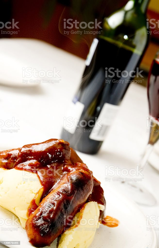Sausage and mash 3 royalty-free stock photo