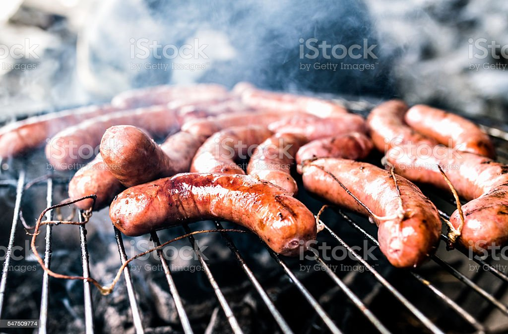 Sausage barbecue stock photo