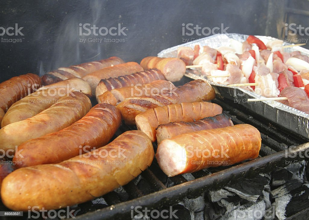 sausage barbecues royalty-free stock photo