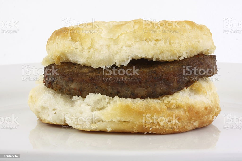 sausage biscuit stock photo
