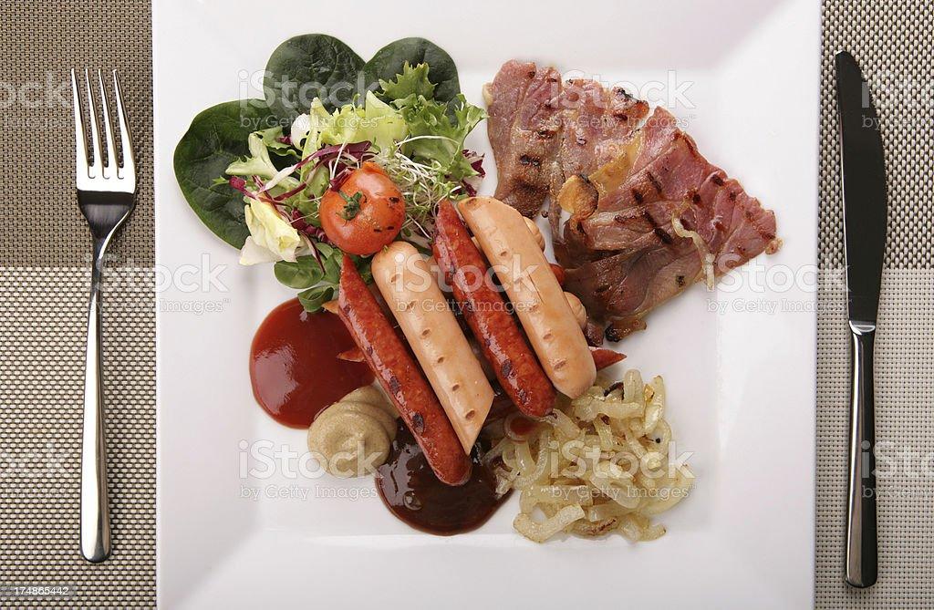 sausage breakfast royalty-free stock photo