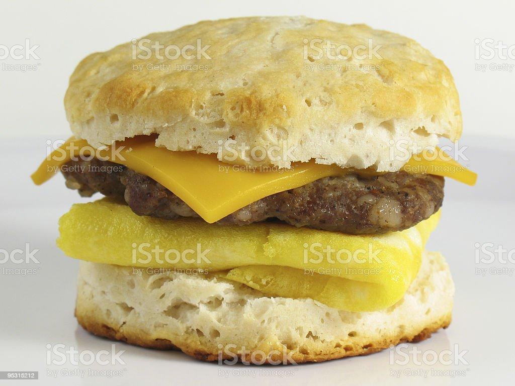 Sausage Breakfast Sandwich stock photo