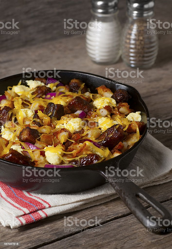 Sausage Breakfast Skillet royalty-free stock photo
