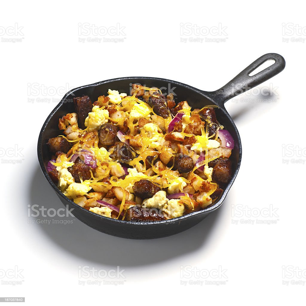 Sausage Breakfast Skillet royalty-free stock photo