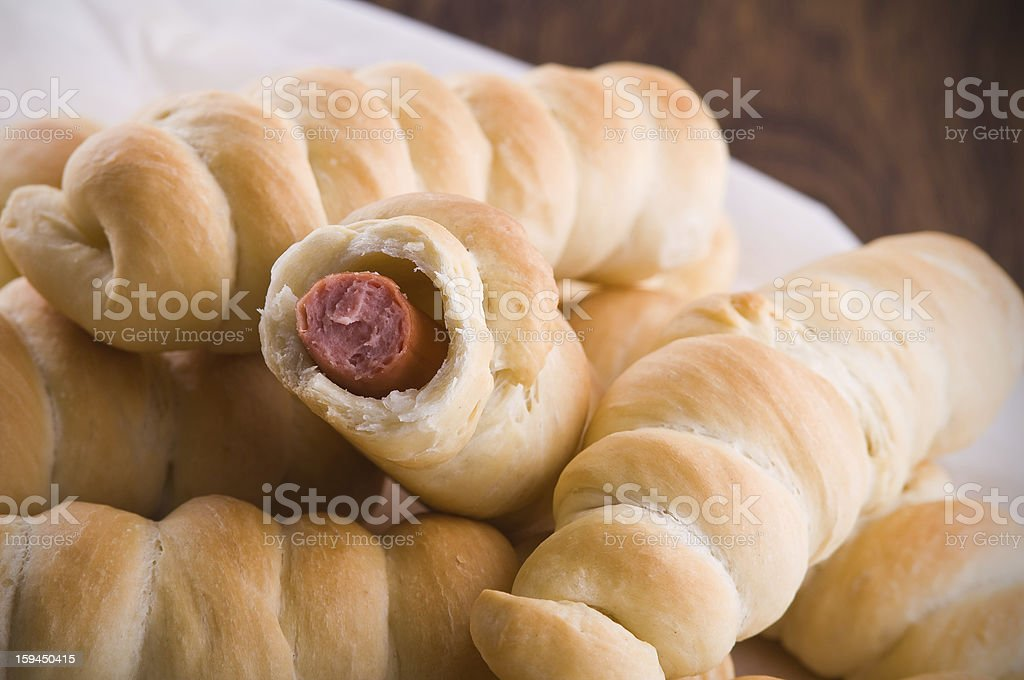 Sausage Buns. royalty-free stock photo