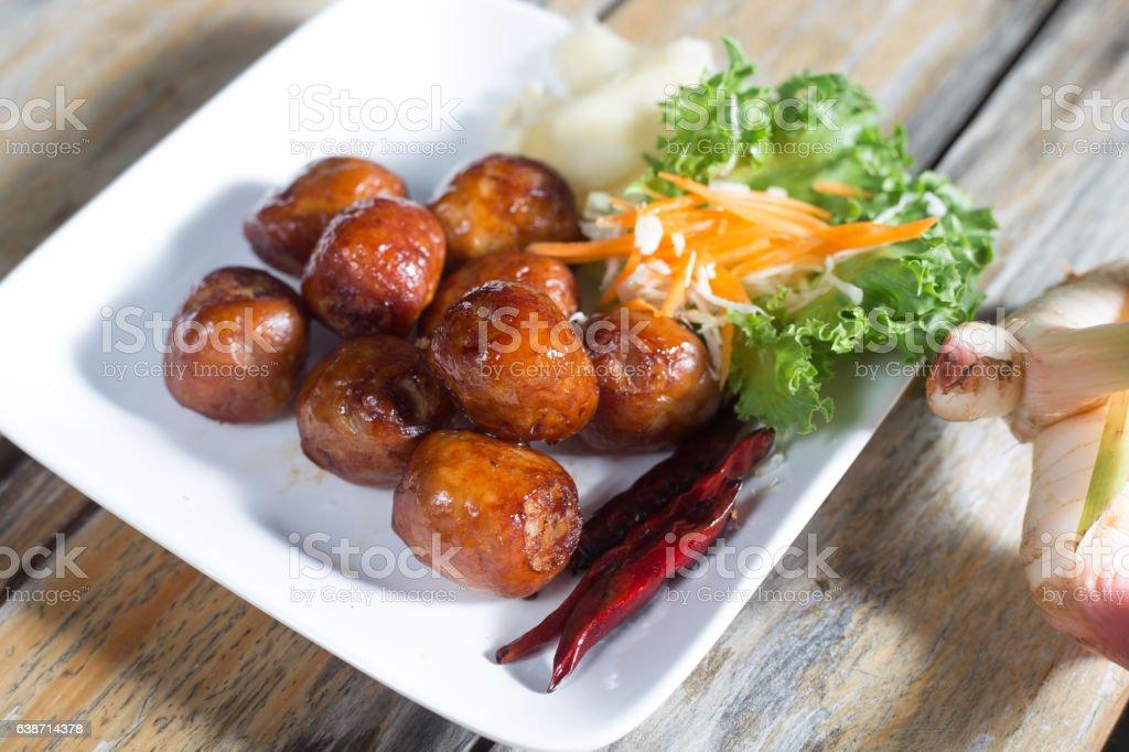 Sausage East (Thailand Food) stock photo