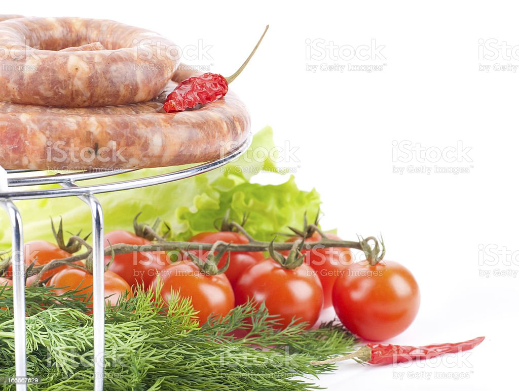 Sausage from pork and beef royalty-free stock photo