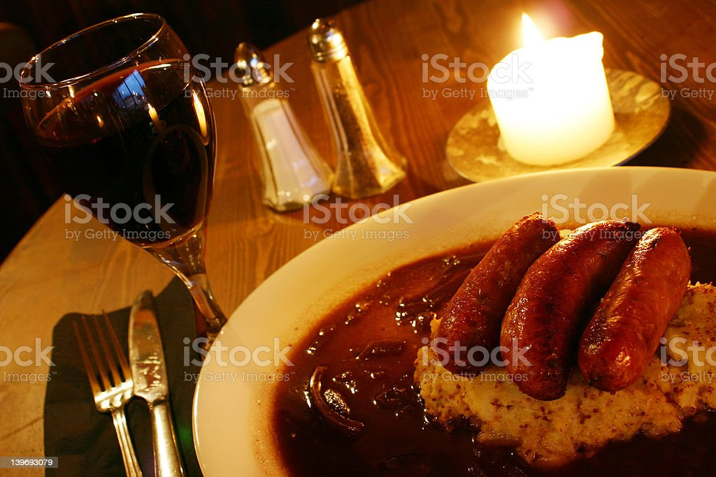 Sausage & mash royalty-free stock photo