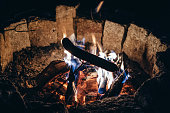 sausage on bonfire