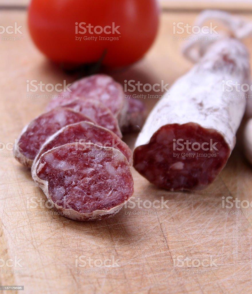 Sausage(fuet) royalty-free stock photo