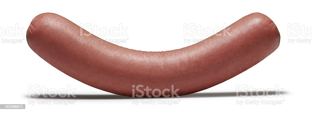 Sausage(isolated with clipping path over white background) stock photo