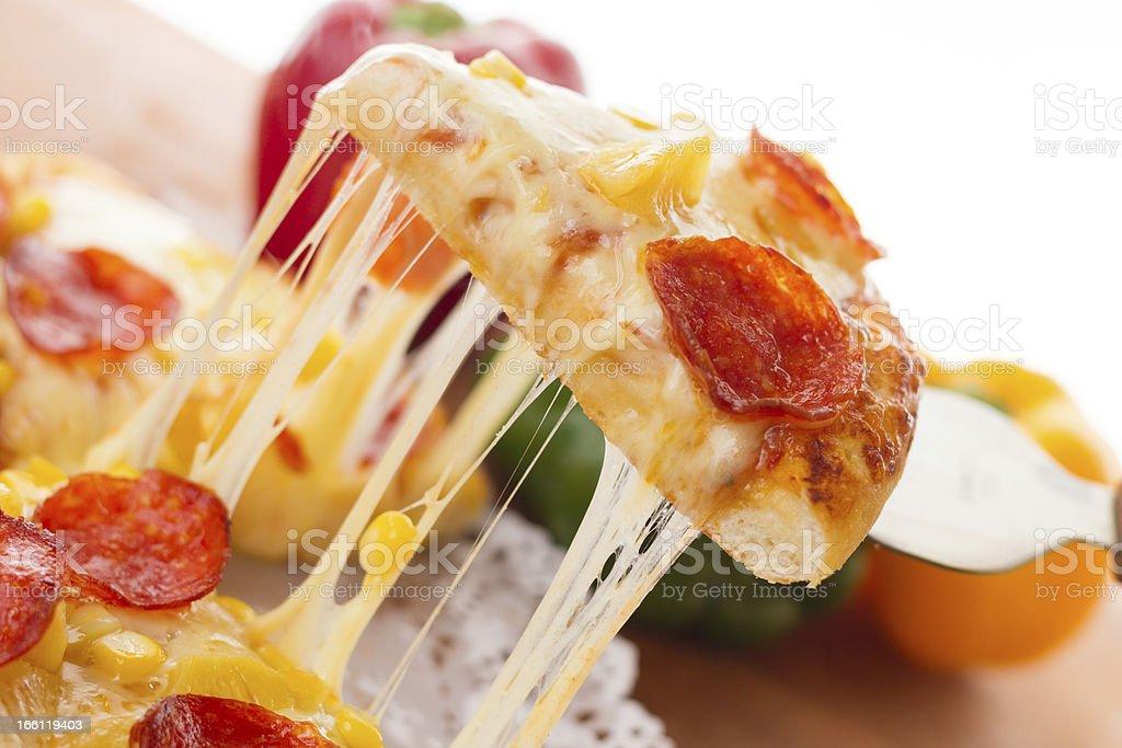 Sausage pizza royalty-free stock photo