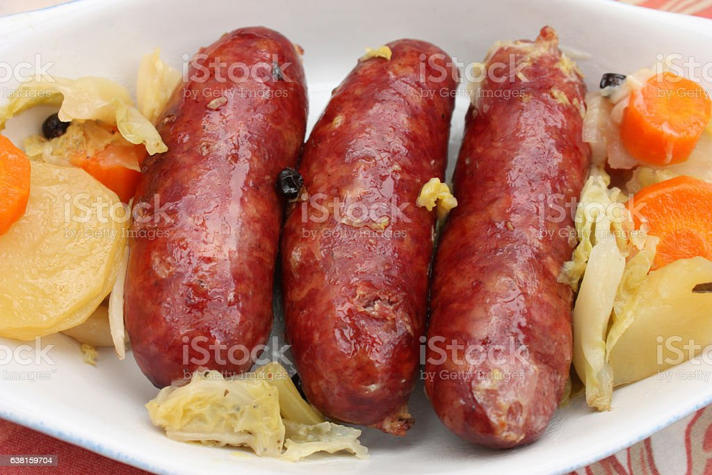 Saucisse - Potée - Charcuterie stock photo