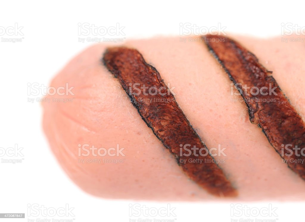 Sausage roll grilled. stock photo