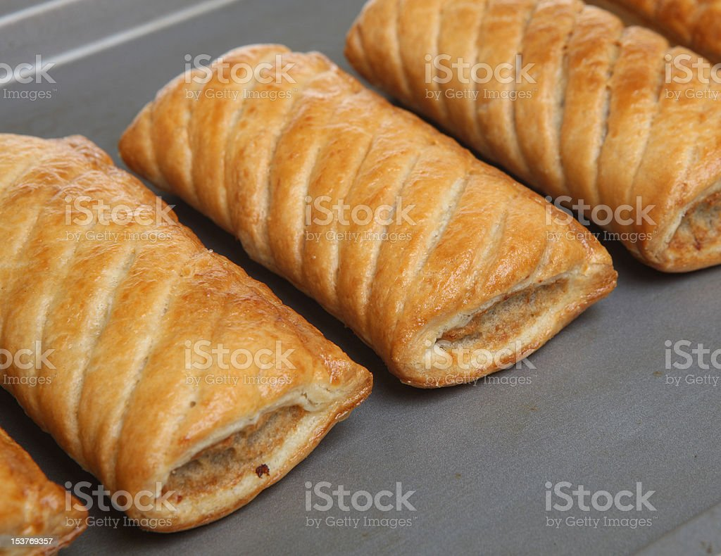 Sausage Rolls stock photo