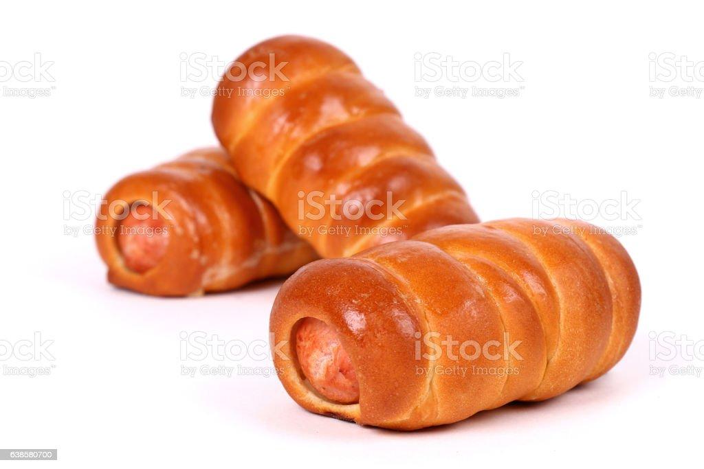 Sausage rolls stock photo