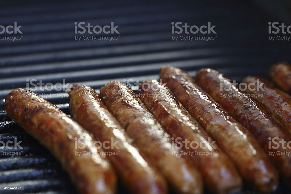 Sausage Sizzle stock photo