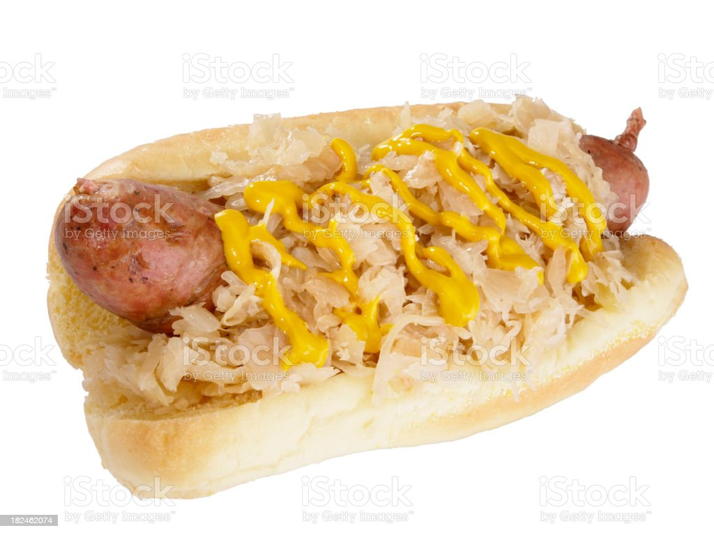 Sausage with Sauerkraut stock photo