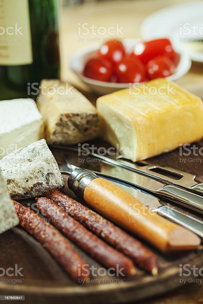 Sausages with cheese royalty-free stock photo