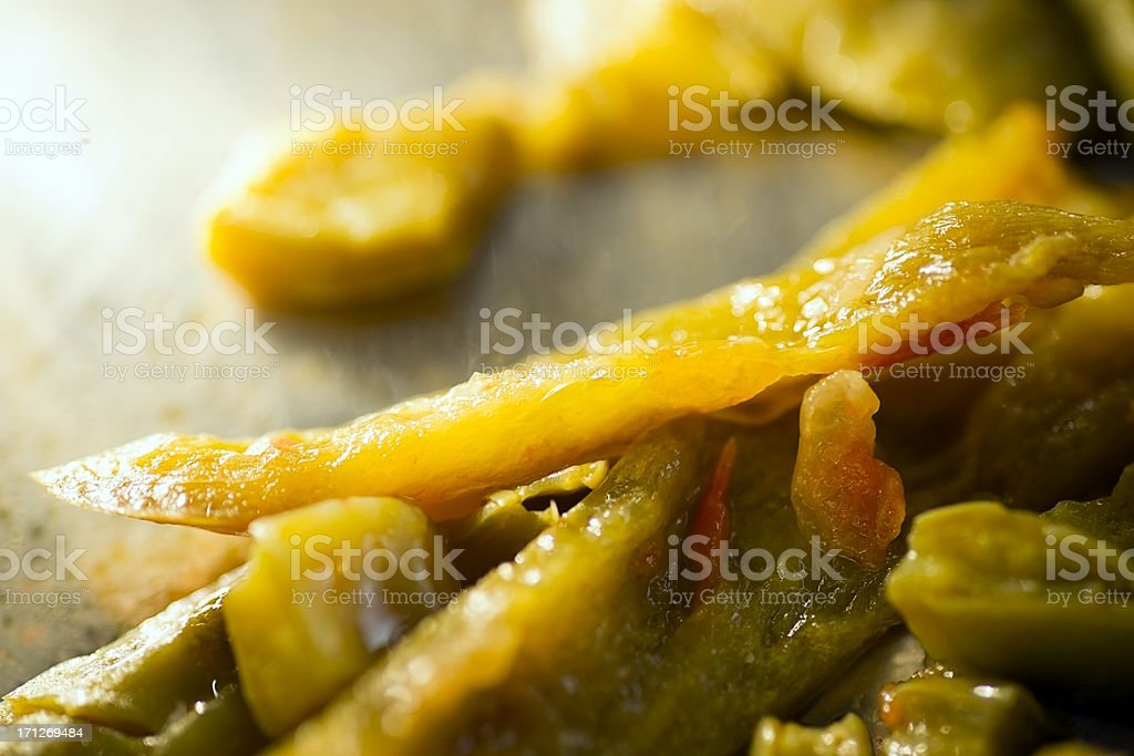 Sautéd Jalapenos and Cactus royalty-free stock photo