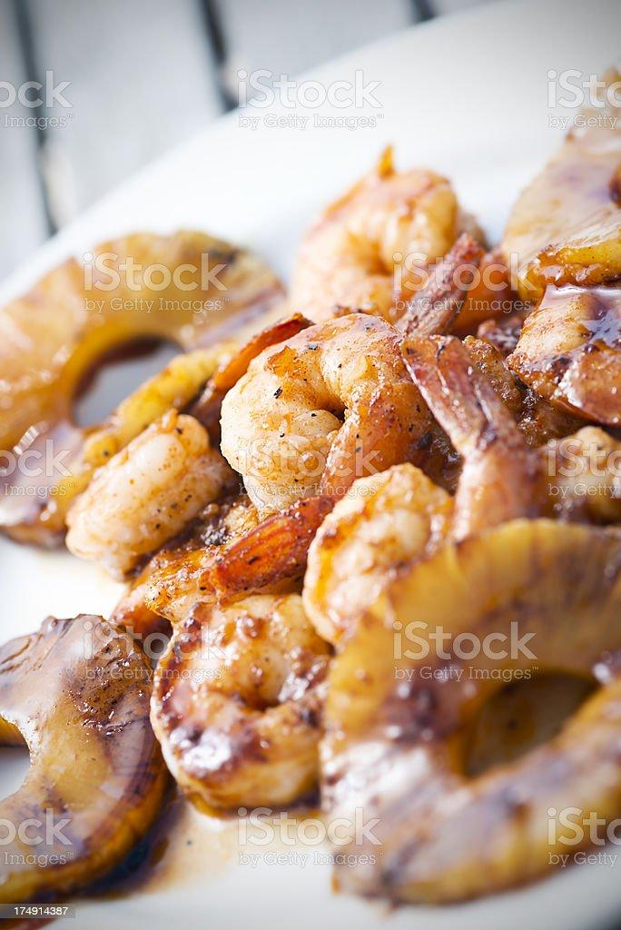 Saute Shrimp royalty-free stock photo