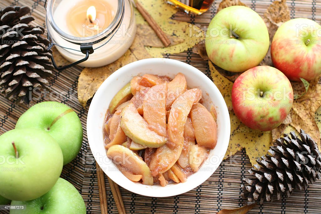 Sauteed Apples royalty-free stock photo