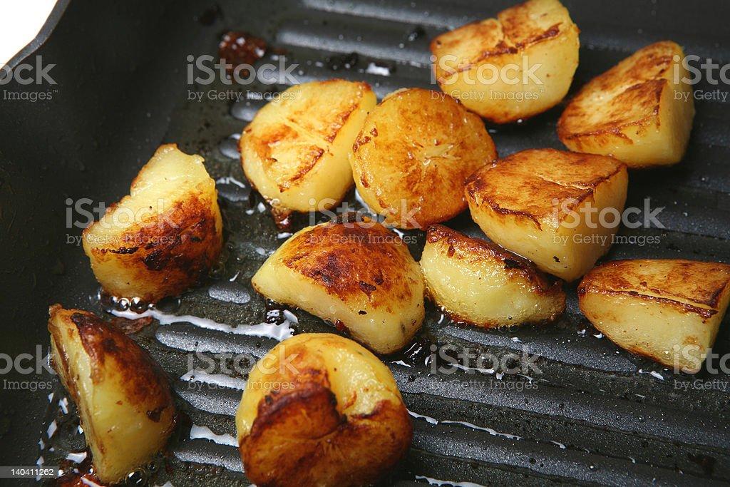Sauteed Potatoes royalty-free stock photo