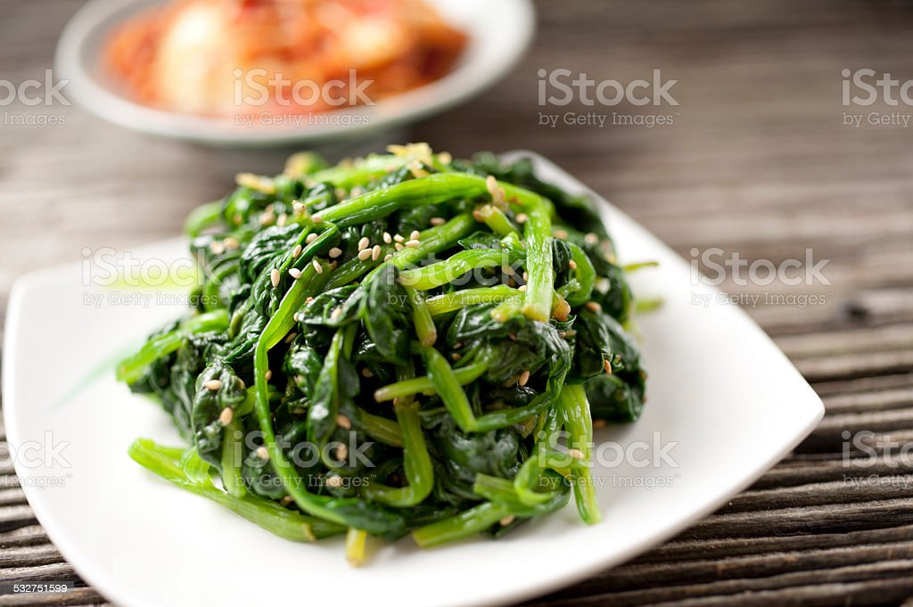 Sauteed Spinach stock photo