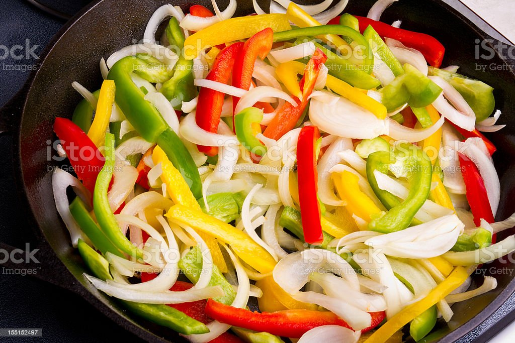 Sauteed Vegetables, Onions and Peppers stock photo