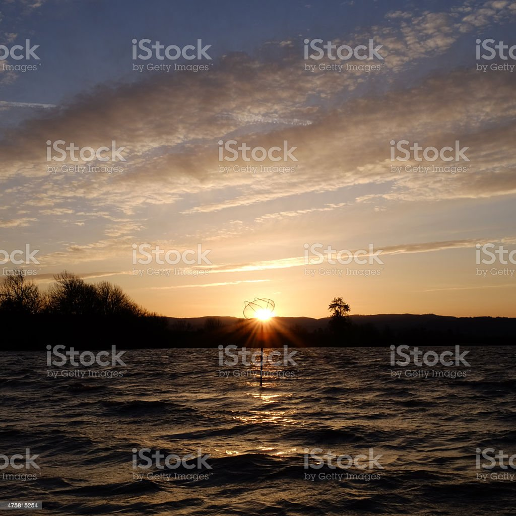 Sauvie Island Sunset stock photo