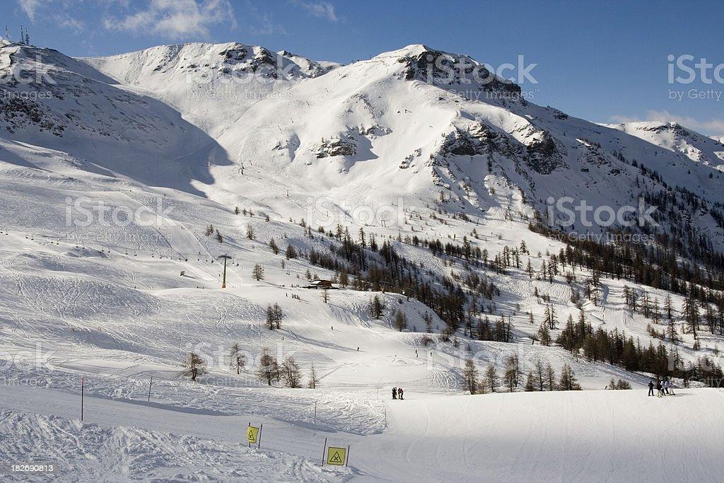 Sauze D'Oulx Ski Area stock photo