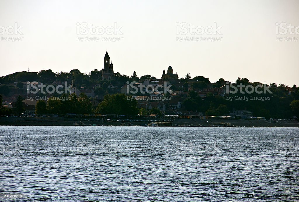 Sava and Danube River stock photo
