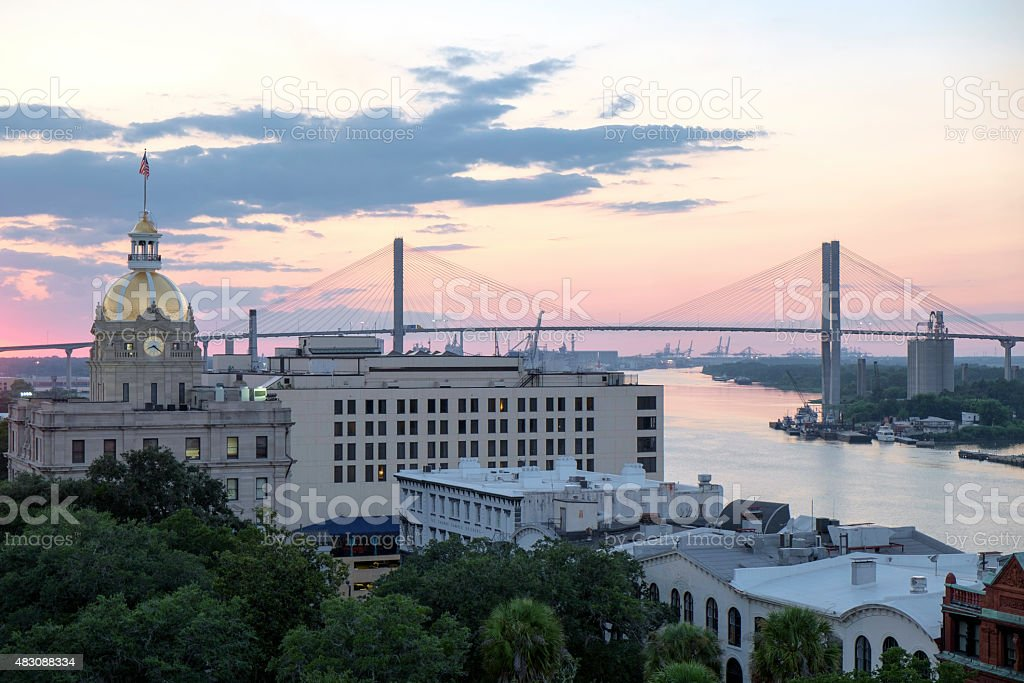 Savannah at Dusk stock photo