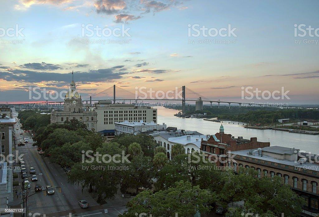 Savannah at Dusk stock photo