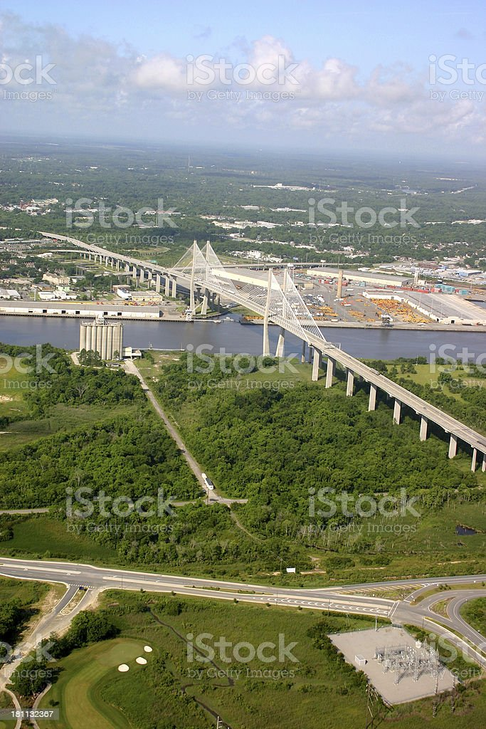 Savannah Bridge royalty-free stock photo
